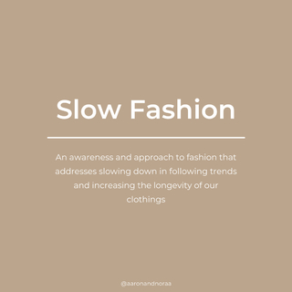 """In today's dominant """"fast fashion,"""" which refers to clothing that is intentionally designed to be consumed quickly at low prices, this led consumers to wear it only a few times before discarding it or moving on to newer and trendier cheap clothes.⠀⠀⠀⠀⠀⠀⠀⠀⠀ ⠀⠀⠀⠀⠀⠀⠀⠀⠀ Slow fashion simply tries to approach fashion in the opposite way that considers the processes and resources required to make clothing. ⠀⠀⠀⠀⠀⠀⠀⠀⠀ ⠀⠀⠀⠀⠀⠀⠀⠀⠀ In aaron & noraa, we source high quality natural fabrics and try to design apparel that looks timeless, meant to last for a long time. ⠀⠀⠀⠀⠀⠀⠀⠀⠀ ⠀⠀⠀⠀⠀⠀⠀⠀⠀ The quantity of our stock is planned thoroughly to minimise waste, that's also the reason why some items are available on pre-order. ⠀⠀⠀⠀⠀⠀⠀⠀⠀ ⠀⠀⠀⠀⠀⠀⠀⠀⠀ We believe that our customers see the same value. Let's shop consciously! ⠀⠀⠀⠀⠀⠀⠀⠀⠀ ⠀⠀⠀⠀⠀⠀⠀⠀⠀ #slowfashion #sustainablebrand #sustainabilityindonesia #socialentrepreneurship #ecofriendly #fashionlokal"""