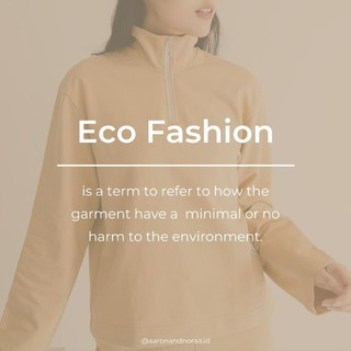 What exactly is eco-fashion?  Eco-fashion is any brand or line that attempts to minimize the impact on the environment.   So, what can we do to support this?   Here are some tips to help us stay responsibly fashionable: 🌱 Buy fewer, higher quality clothing 🌱 Repair loved garments 🌱 Shop from sustainable clothing brands  Fashion shouldn't cost the earth  #ecofashion #sustainablefashion #fashionterms
