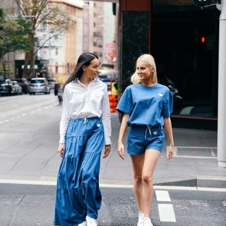 Matching outfit with your besties, why not? Tag your best friend who likes to plan for matching outfits when you're hanging out!  In frame: Flamenco Skirt and Lola Hot Pants Sky  Tap to check the products or visit our website to shop!   www.aaronandnoraa.com  #ethicalbusiness #ethicalluxury #slowfashionrevolution #perempuanhebat #bosschic #bossladiesmindset