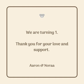 Thank you for being an essential part of our journey. 🤍 Celebrating our 1st anniversary today.  #aaronandnoraaanniversary #LifeofAaronandNoraa #aaronandnoraaclothing #anniversary #celebrate #clothing #clothingbrand