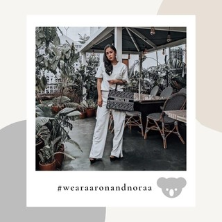 @adelinetjahjadi is wearing Tshirt and Cargo pants in Gardenia to the one of the collest restaurants  in Jakarta. Stunning! #womenweadmire #wearaaronandnoraa #fashionablewomen
